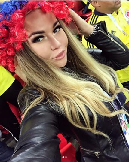 Колумбийская болельщица на матче Колумбия – Англия. Фото Instagram/morganyulia