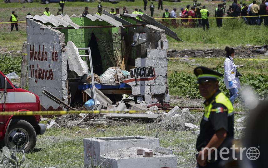 Кадры с места взрывов в Мексике. Фото AFP