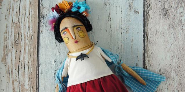 Самая первая текстильная кукла Ольги.