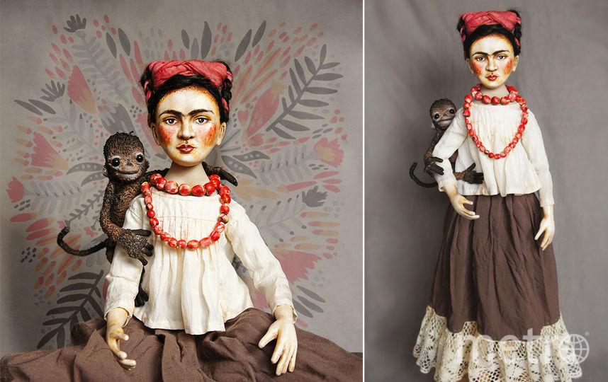 В некоторых автопортретах Фрида изображала себя с обезьянкой. Фото https://www.instagram.com/olga.cherepanava/, Getty
