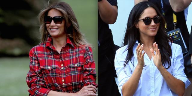 Первая леди США и герцогиня предпочитают в свободное от официальных мероприятий время повседневный стиль.