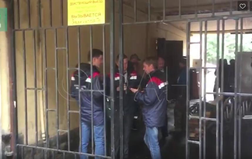 Эвакуация жильцов дома 20 на Зверинской улице. Фото Скриншот, vk.com