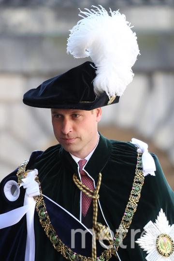 Принц Уильям - рыцарь ордена Чертополоха. Фото Getty