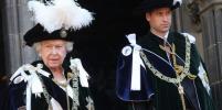 Орден Чертополоха: Королева и принц Уильям в мантиях посетили службу