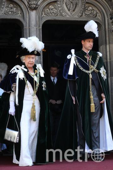 Эдинбург. Елизавета II и Уильям. Орден Чертополоха. Фото Getty