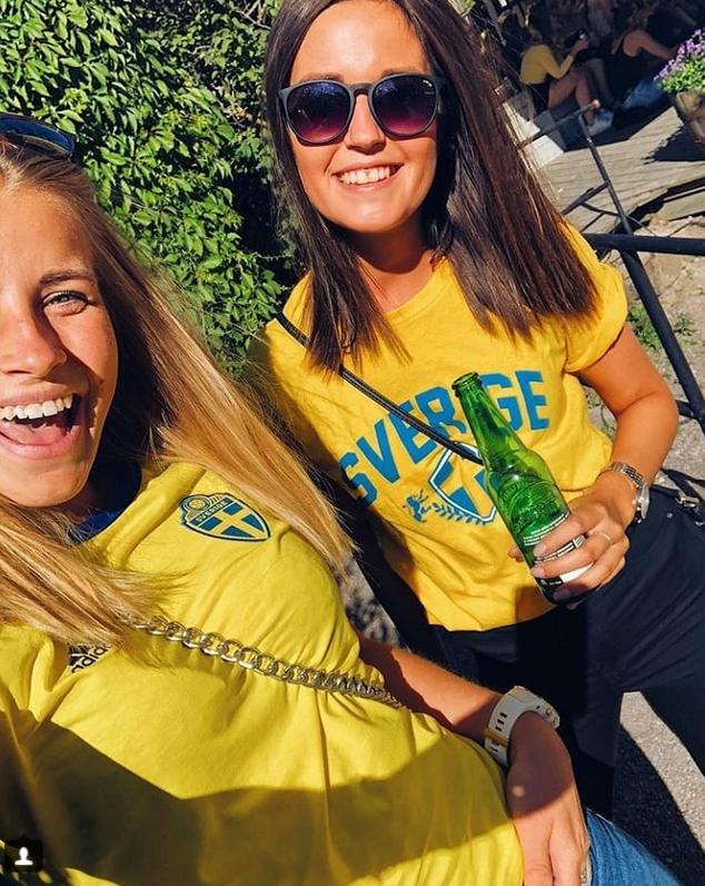 Шведские болельщицы названы самыми сексуальными. Фото Скриншот Instagram: @sofieethornberg