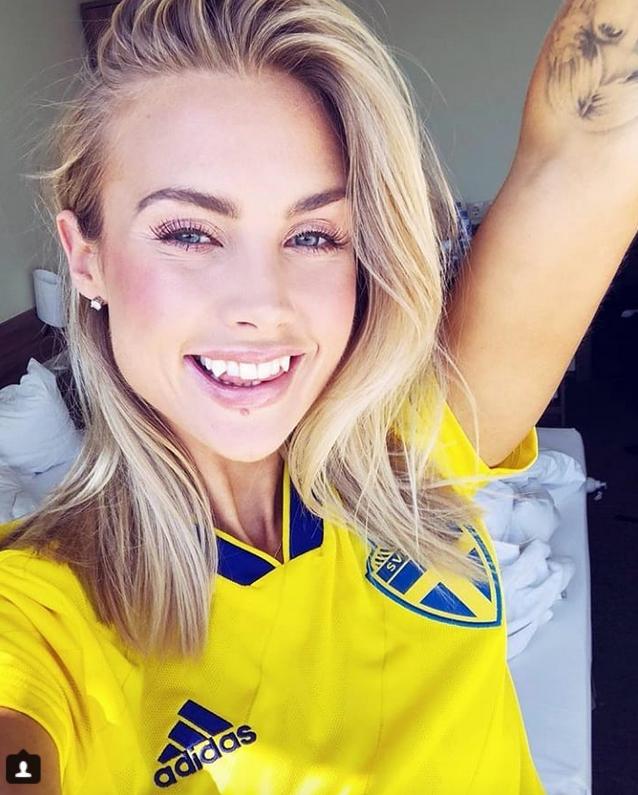 Шведские болельщицы названы самыми сексуальными. Фото Скриншот Instagram:@majaenilsson