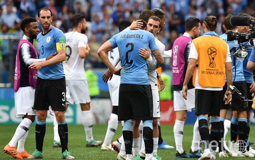 Матч Уругвай - Франция 6 июля 2018 года. Фото AFP
