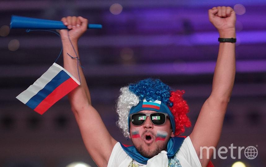 Болельщики 1 июля во время матча Россия-Испания. Фото Getty