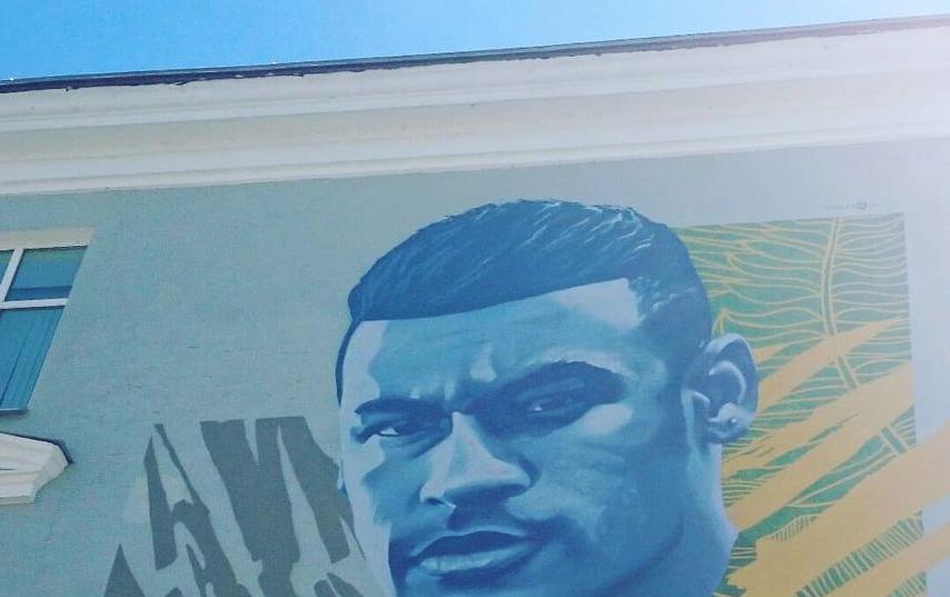 Граффити с Неймаром в Казани. Фото Станислав Купцов