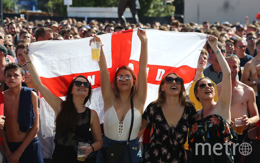Английские фанаты без ума от своей сборной. Фото Getty