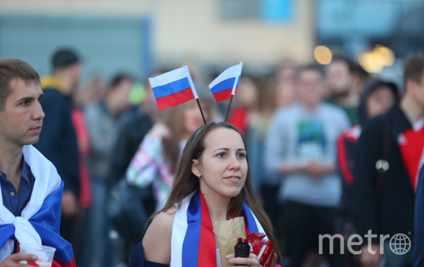 Как Москва поддерживала сборную. Фото Василий Кузьмичёнок