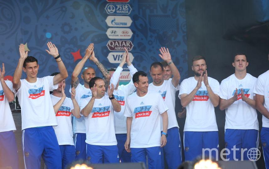 Встреча фанатов и сборной. Фото Василий Кузьмичёнок