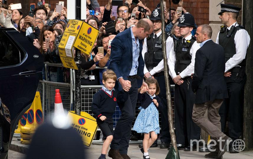 Принц Уильям со старшими детьми. Фото Getty