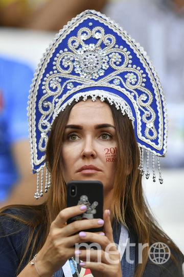 Болельщица матча Швеция – Англия. Фото AFP