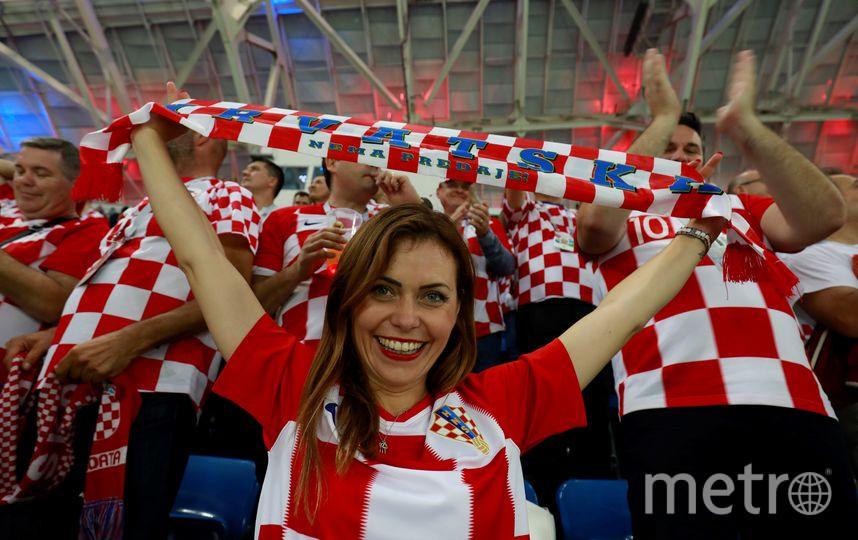 Болельщица матча Россия – Хорватия. Фото AFP