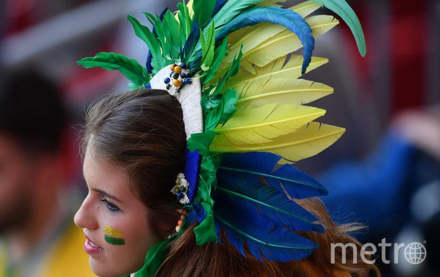 Болельщица матча Бразилия – Бельгия. Фото AFP