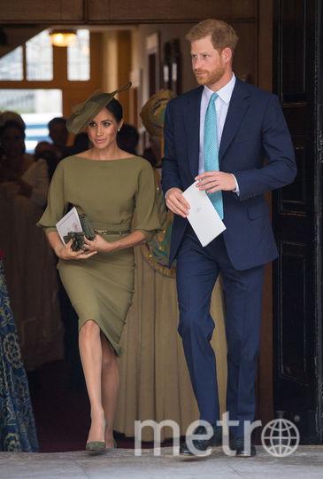 Меган Маркл и принц Гарри на крестинах принца Луи. Фото Getty