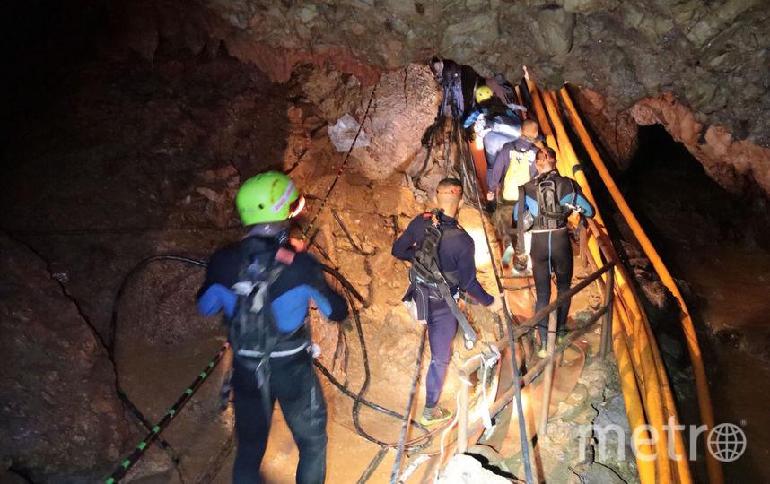 Третий этап спасательной операции назначен на вторник, 10 июля. Фото Thai Royal Navy, AFP