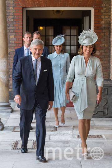Крестины принца Луи. Родители Кейт Миддлтон. Фото Getty
