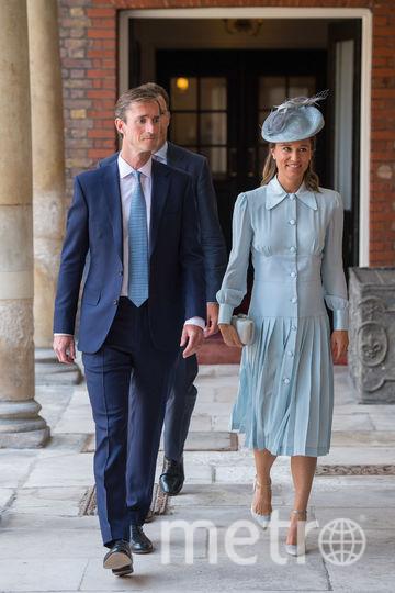 Крестины принца Луи. Сестра Кейт Пиппа со своим мужем. Фото Getty