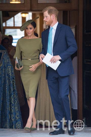 Крестины принца Луи. Принц Гарри и Меган Маркл. Фото Getty