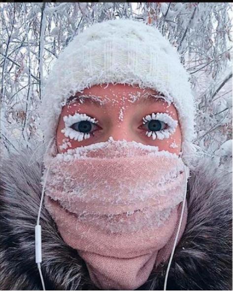 Анастасия Груздева со снежными ресничками зимой полюбилась иностранцам. Фото https://www.instagram.com/anastasiagav/