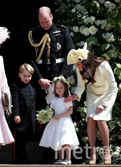 Принц Уильям, Кейт Миддлтон и принцесса Шарлотта. Фото Getty