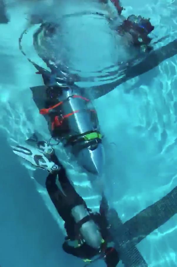 Испытание субмарины в бассейне. Фото Скриншот с видео twitter.com/elonmusk