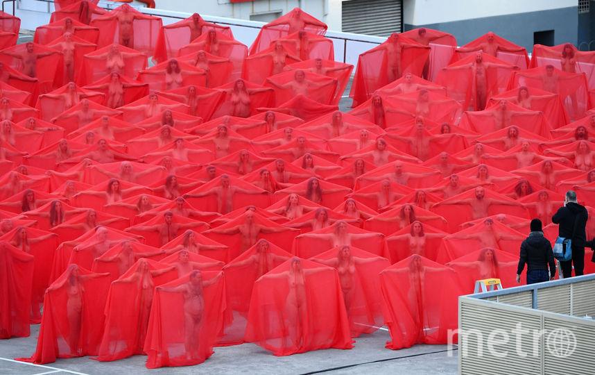 Голый флешмоб в Мельбурне. Фото Getty