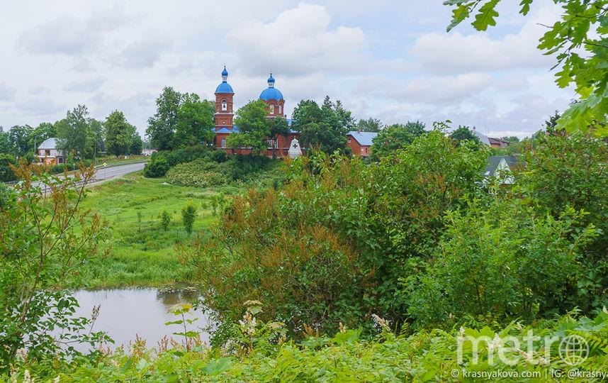 Вид на деревню Рождествено и храм Рождества Богородицы. Фото https://krasnyakova.com