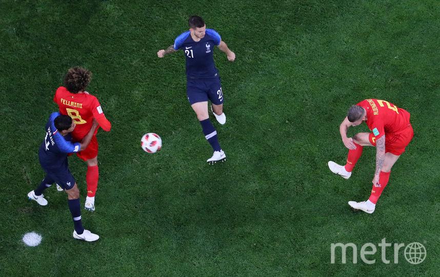 Фото с матча Бельгия - Франция. Фото Getty