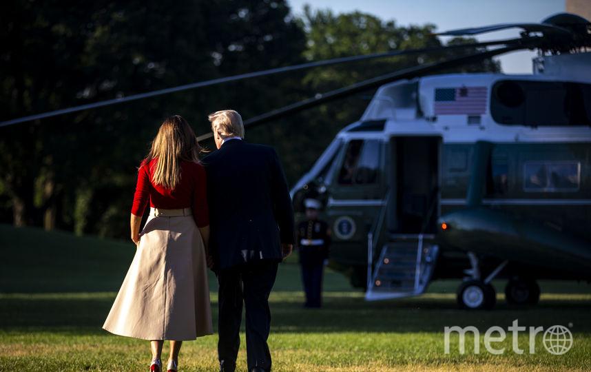 Дональд и Мелания Трамп перед вылетом в Брюссель. Фото Getty