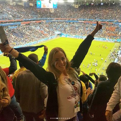 Болельщица матча Франция – Бельгия. Фото Instagram/alina_zyb
