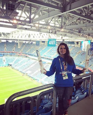 Болельщица матча Франция – Бельгия. Фото Instagram/ddobrian