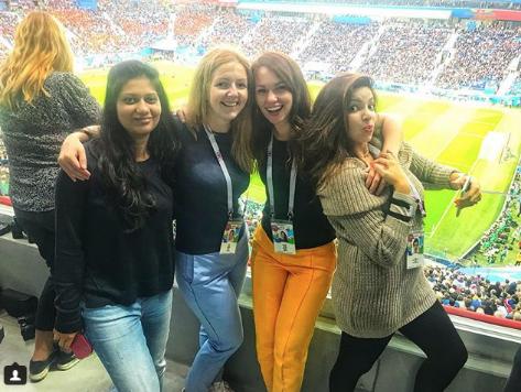 Болельщица матча Франция – Бельгия. Фото Instagram/tatyana_makarenko_spb
