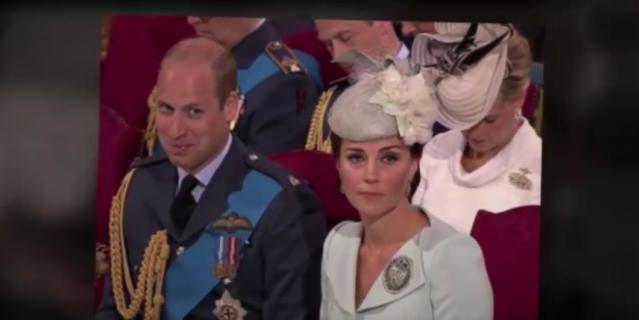 Принц Уильяи и Кейт Миддлтон в Вестминстерском аббатстве.