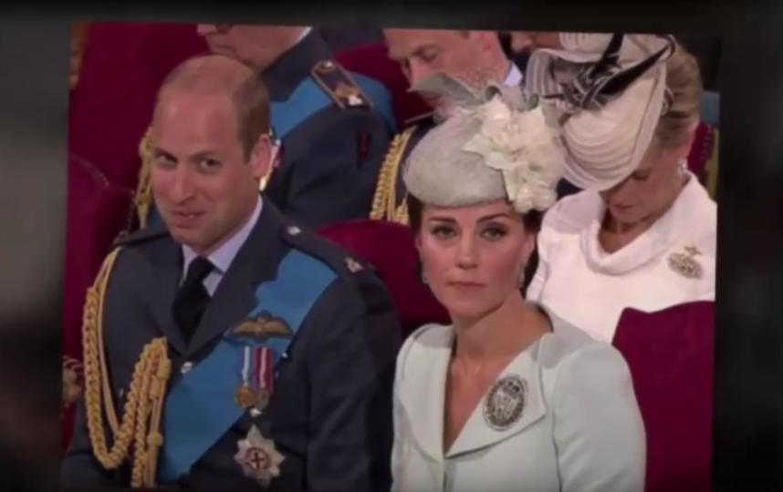 Принц Уильяи и Кейт Миддлтон в Вестминстерском аббатстве. Фото Скриншот Youtube