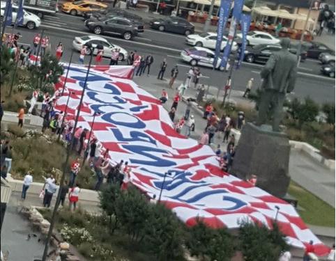 Фото с Триумфальной площади. Фото Скриншот Instagram/elena.isolo