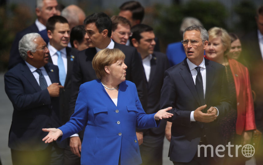 Саммит НАТО в Брюсселе. Ангела Меркель и генсек НАТО Йенс Столтенберг. Фото Getty