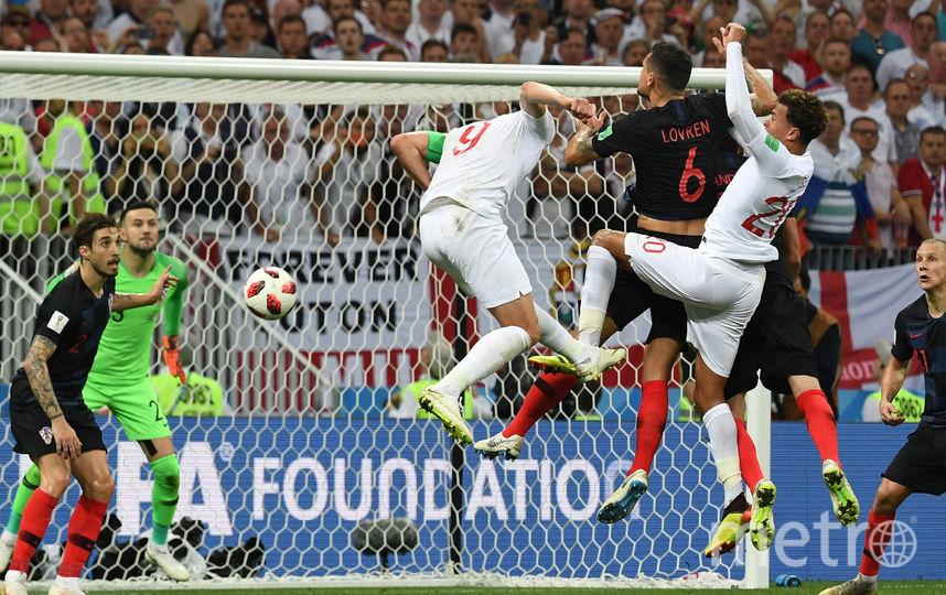 Кадры с матча Хорватия - Англия. Фото AFP