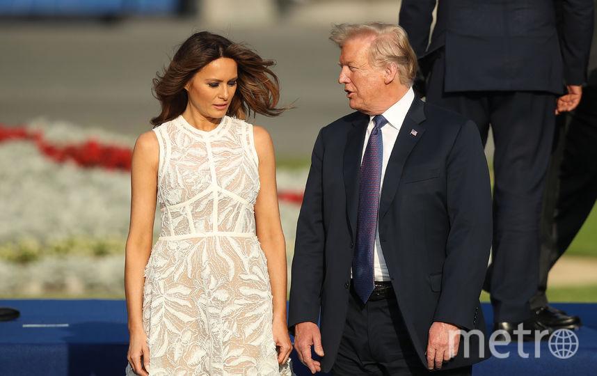 Мелания Трамп в Брюсселе. Фото Getty