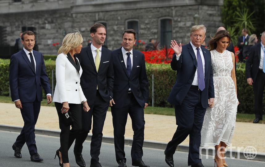 Мелания Трамп и Брижит Макрон в Брюсселе. Фото Getty