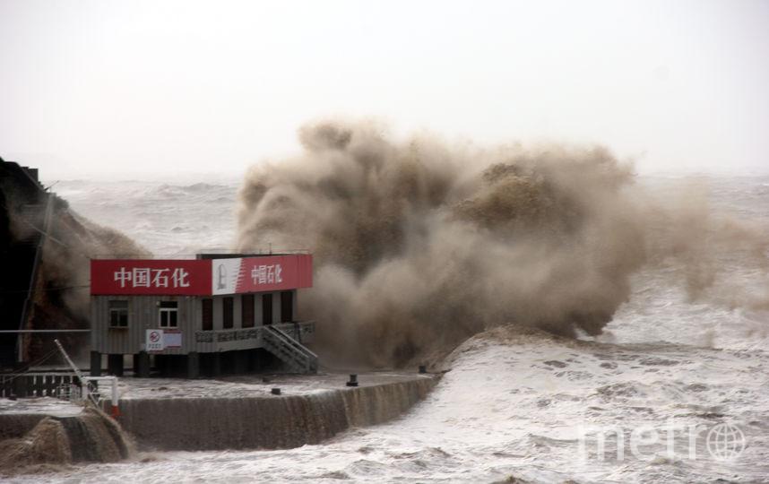 Тайфун Мария в Китае. Фото Getty