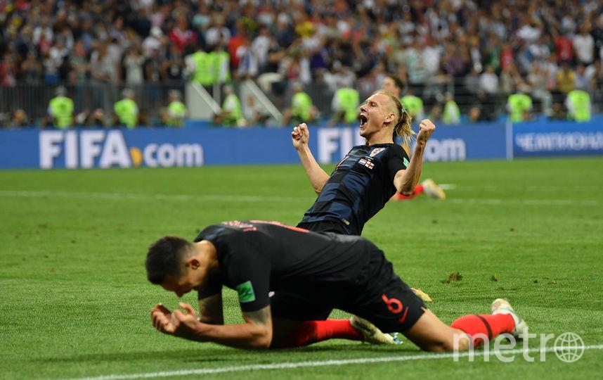 Сборная Хорватии одолела сборную Англии в полуфинальном матче мундиаля. Фото Getty