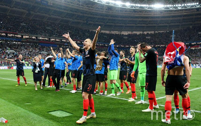 Сборная Хорватии празднует выход в финал ЧМ. Фото Getty