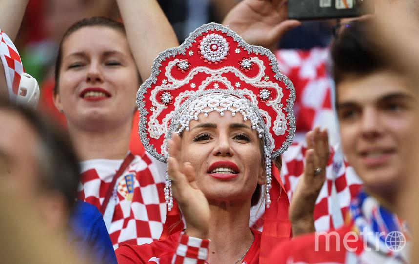 Болельщица матча Хорватия – Англия.