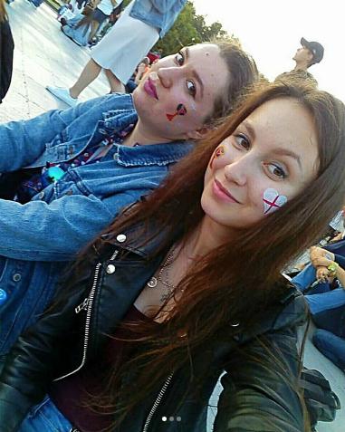 Болельщицы матча Хорватия – Англия. Фото Instagram/k.u.d.r.i.a.v.t.s.e.v.a