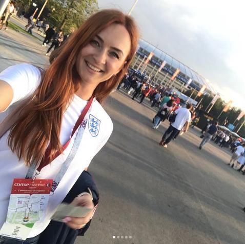 Болельщица матча Хорватия – Англия. Фото Instagram/k.e_lena