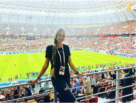Болельщица матча Хорватия – Англия. Фото Instagram/vipkoshka
